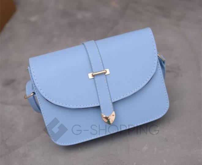 Женская голубая сумка кросс-боди на молнии c092 Kingth Goldn, фото 6