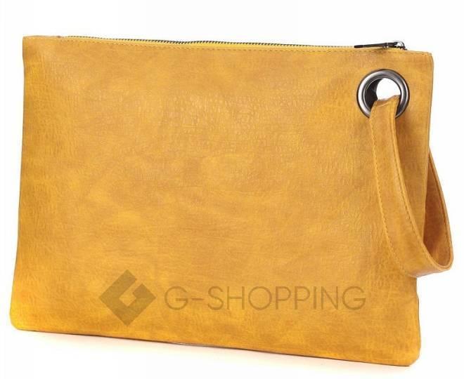 Стильный женский клатч-конверт коричневый C102-18 KINGTH GOLDN, фото 4