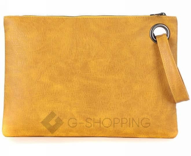 Стильный женский клатч-конверт коричневый C102-18 KINGTH GOLDN, фото 5