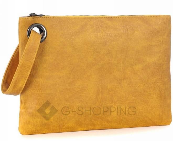 Стильный женский клатч-конверт коричневый C102-18 KINGTH GOLDN, фото 6