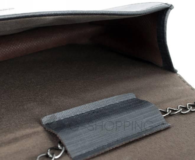 Сумочка кросс-боди черная на цепочке с поворотным замком C099-01 Kingth Goldn, фото 6