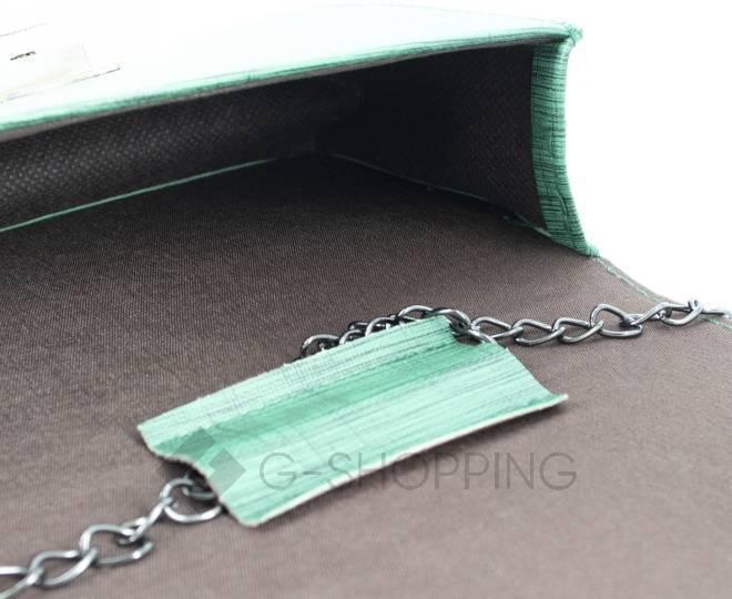 Сумочка кросс-боди зеленая на цепочке с поворотным замком C099-16 Kingth Goldn, фото 7