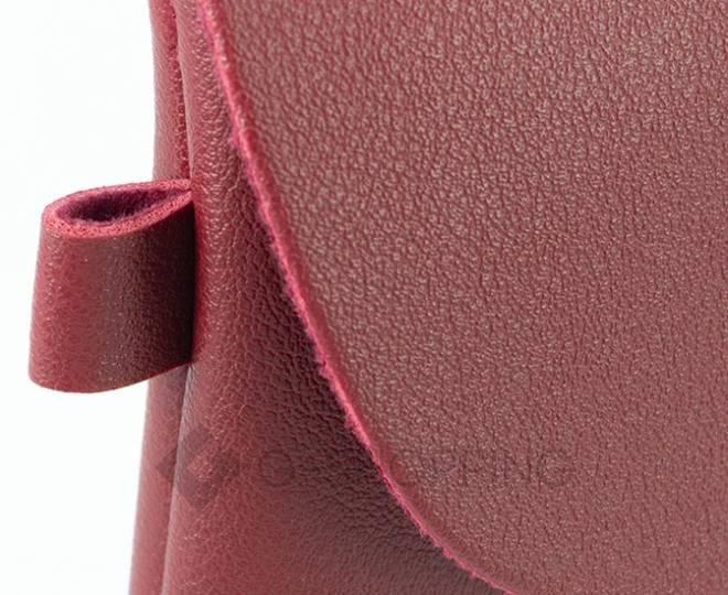 Женская маленькая красная сумка кросс-боди с портфельной застежкой C106-08, фото 9