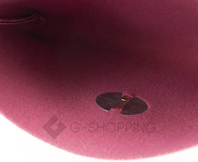Женская маленькая красная сумка кросс-боди с портфельной застежкой C106-08, фото 10