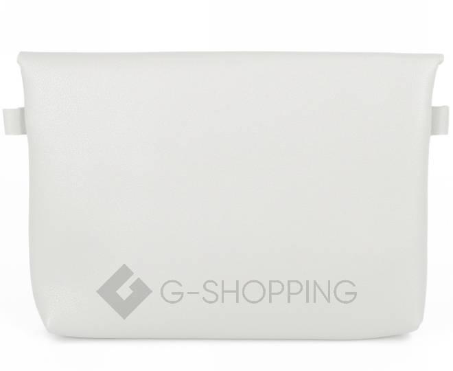 Женская маленькая серая сумка кросс-боди с портфельной застежкой C106-23, фото 6