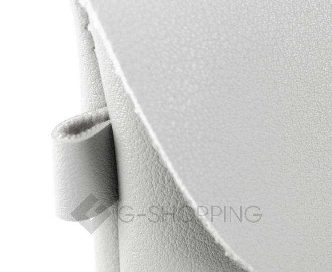 Женская маленькая серая сумка кросс-боди с портфельной застежкой C106-23, фото 8