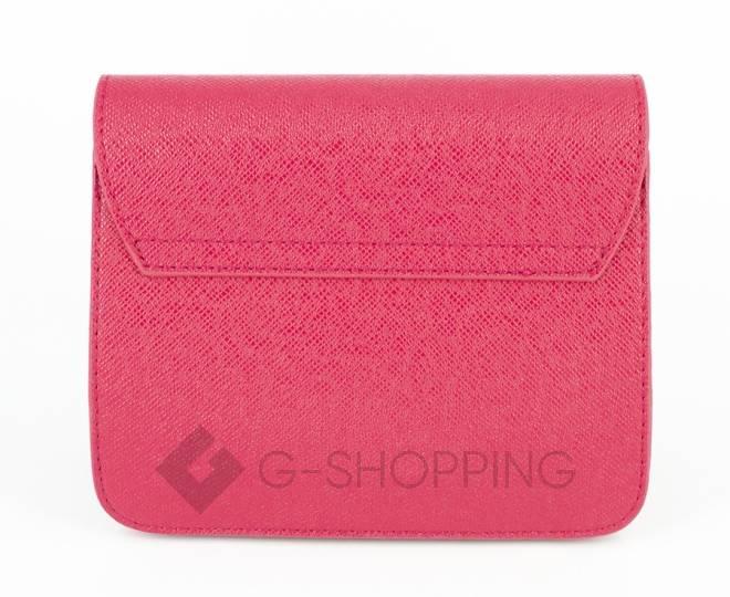 Женская ярко-розовая сумка кросс-боди на цепочке с портфельной застежкой C113-10, фото 6