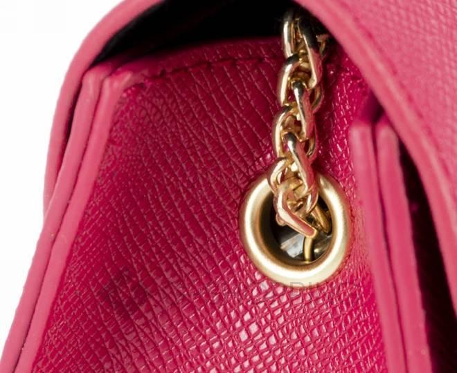 Женская ярко-розовая сумка кросс-боди на цепочке с портфельной застежкой C113-10, фото 8