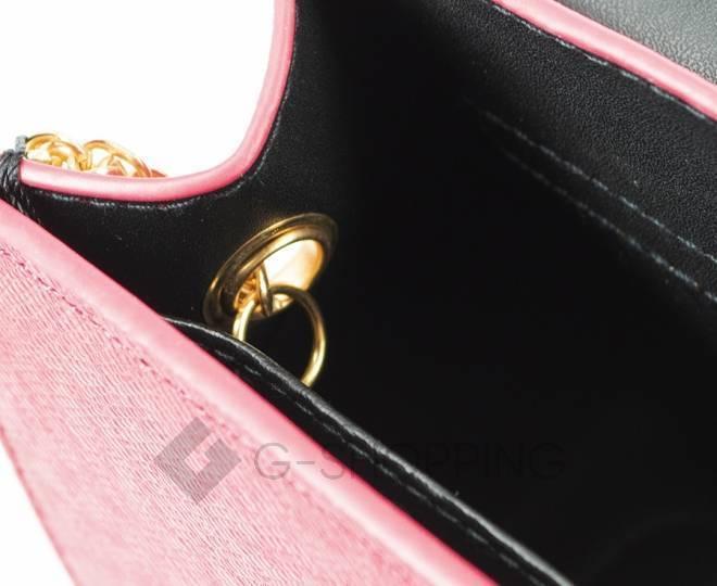 Женская ярко-розовая сумка кросс-боди на цепочке с портфельной застежкой C113-10, фото 9
