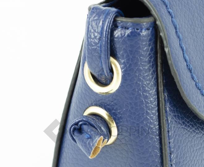Женская синяя сумка кросс-боди с портфельной застежкой C148-05 Kingth Goldn, фото 10