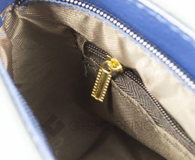Женская синяя сумка кросс-боди с портфельной застежкой C148-05 Kingth Goldn, фото 11