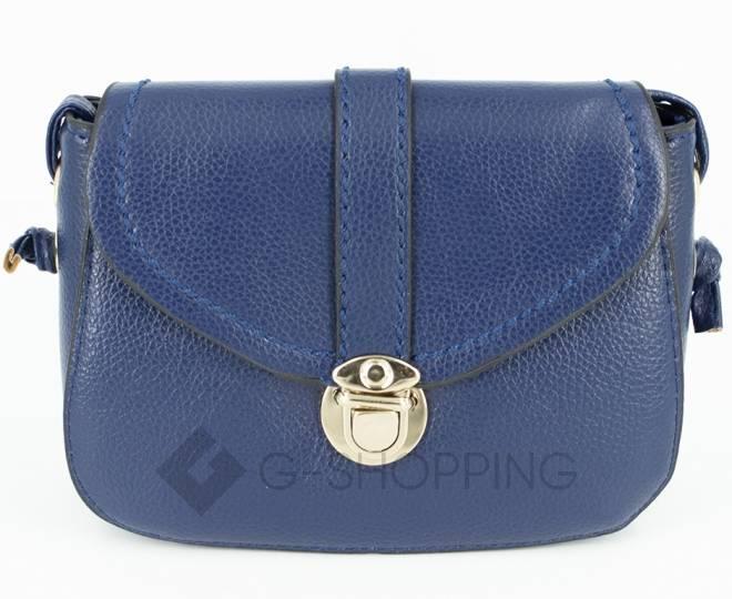 Женская синяя сумка кросс-боди с портфельной застежкой C148-05 Kingth Goldn, фото 7