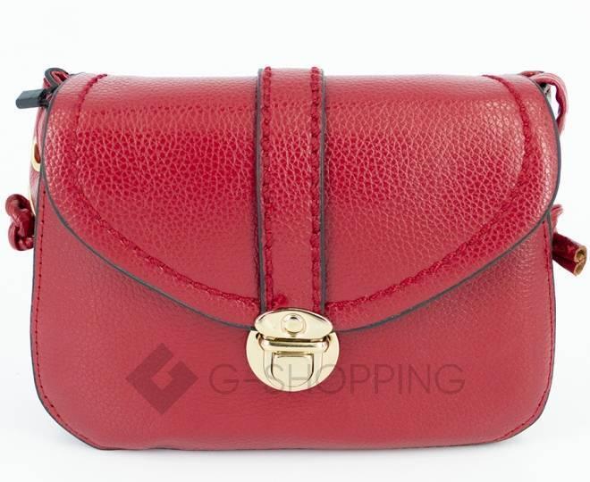 Женская красная сумка кросс-боди с портфельной застежкой Kingth Goldn, фото 7