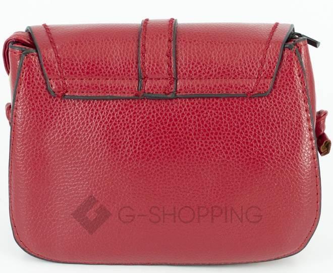Женская красная сумка кросс-боди с портфельной застежкой Kingth Goldn, фото 8