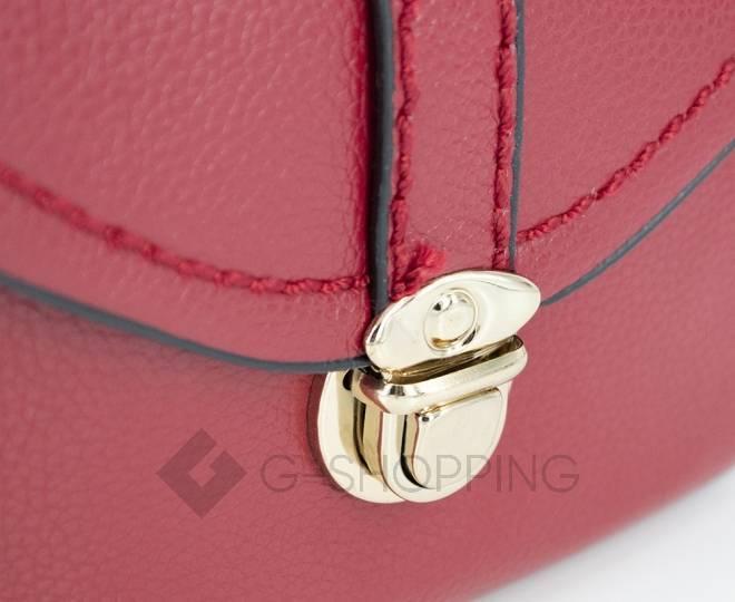 Женская красная сумка кросс-боди с портфельной застежкой Kingth Goldn, фото 9