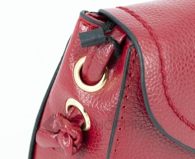 Женская красная сумка кросс-боди с портфельной застежкой Kingth Goldn, фото 10
