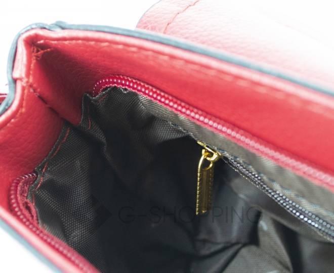 Женская красная сумка кросс-боди с портфельной застежкой Kingth Goldn, фото 11