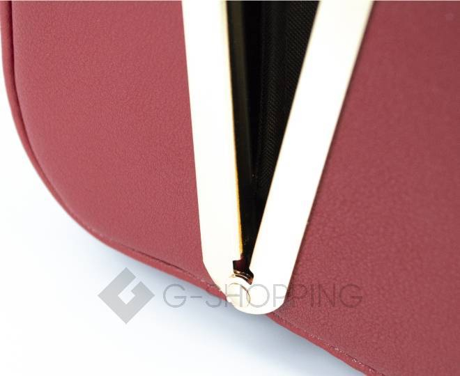 Женская маленькая красная сумка с застежкой фермуар C150-09 Kingth Goldn, фото 6