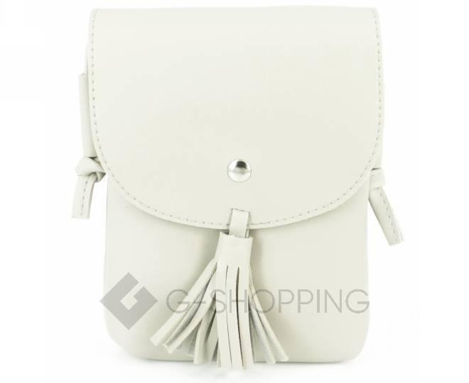 Женская маленькая серая сумка на магнитной кнопке C097, фото 5