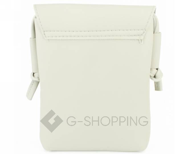 Женская маленькая серая сумка на магнитной кнопке C097, фото 6