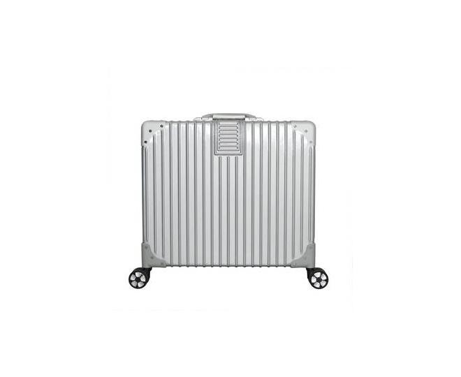 Пластиковый чемодан на колесиках серебристый DL068 3,7кг