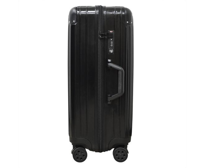 Пластиковый чемодан на колесиках чёрный DL072 3,8кг, фото 2