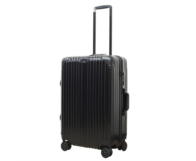 Пластиковый чемодан на колесиках чёрный DL072 3,8кг, фото 5