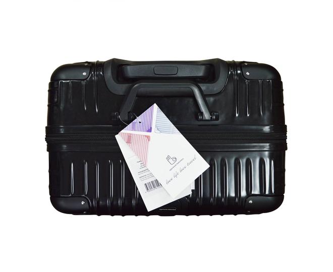 Пластиковый чемодан на колесиках чёрный DL072 3,8кг, фото 8