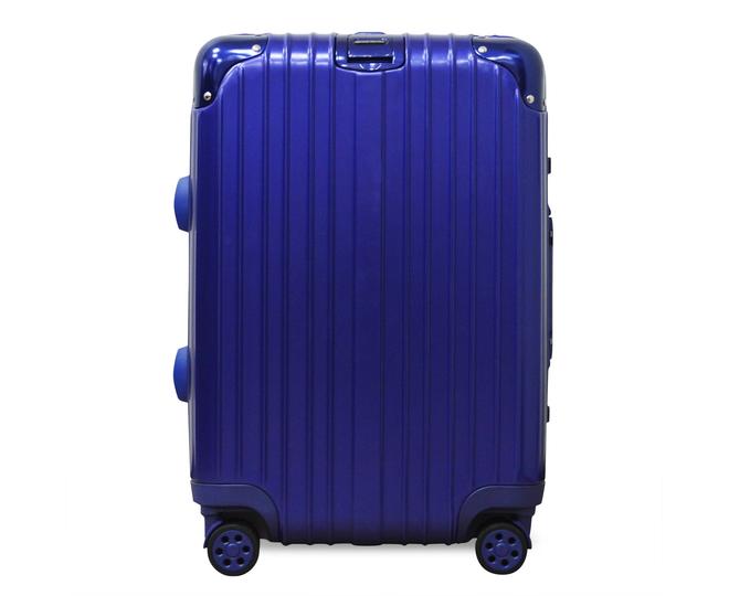 Пластиковый чемодан на колесиках голубой РС151 5,4кг, фото 5