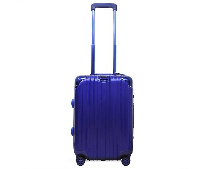 Пластиковый чемодан на колесиках голубой РС151 5,4кг, фото 6
