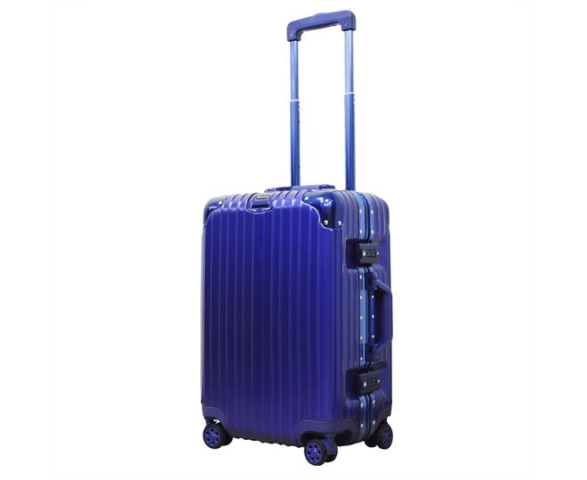 Пластиковый чемодан на колесиках голубой РС151 5,4кг, фото 8