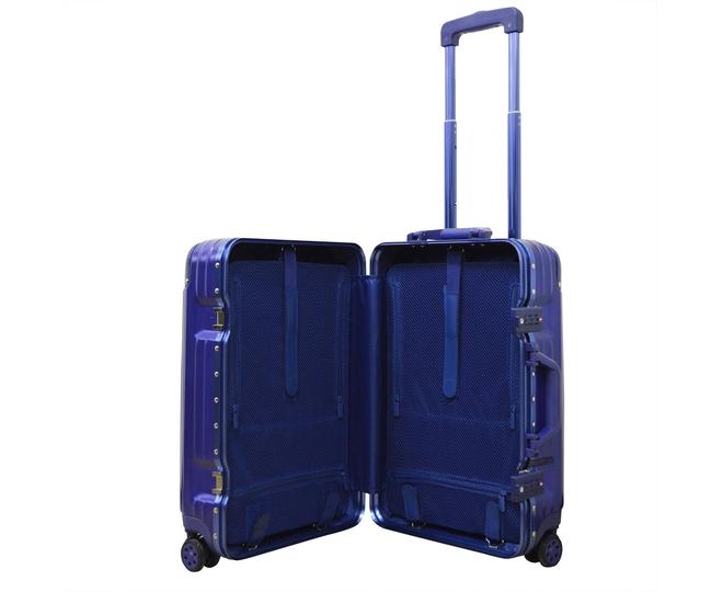 Пластиковый чемодан на колесиках голубой РС151 5,4кг, фото 9