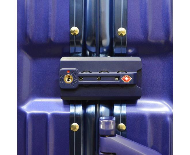 Пластиковый чемодан на колесиках голубой РС151 5,4кг, фото 10