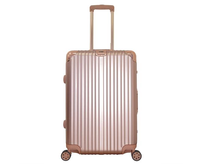 Пластиковый чемодан на колесиках золотистый PC151 3,9кг
