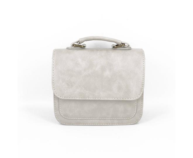 Женская маленькая серая сумка кросс-боди на магнитной застежке c083 Kingth Goldn, фото 6