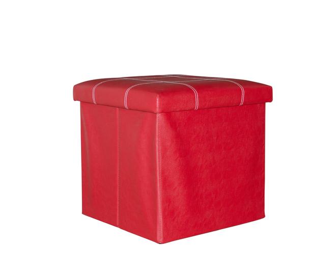 Табурет-ящик красный, фото 4