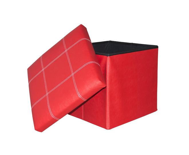 Табурет-ящик красный, фото 6