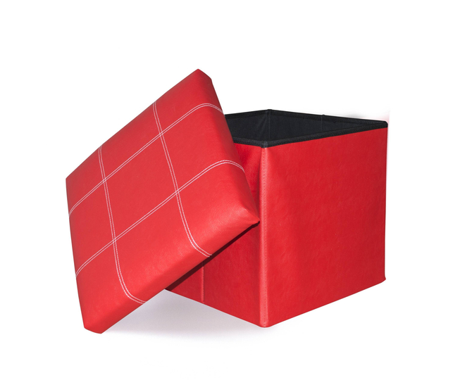 Табурет-ящик красный, фото 5