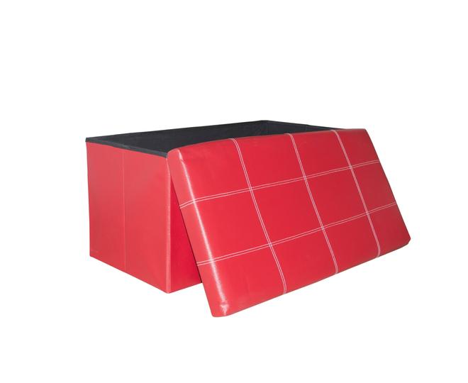 Табурет-ящик красный, фото 1