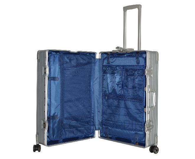 Пластиковый чемодан на колесиках серебристый DL068 4,8кг, фото 8