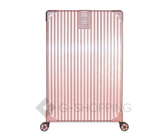 Пластиковый чемодан на колесиках розовый DL068 4,8кг, фото 6