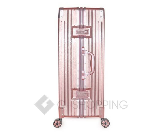 Пластиковый чемодан на колесиках розовый DL068 4,8кг, фото 7