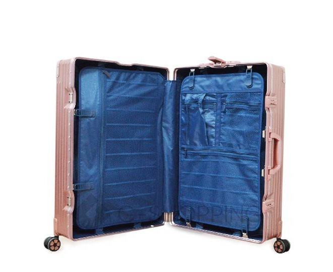Пластиковый чемодан на колесиках розовый DL068 4,8кг, фото 8