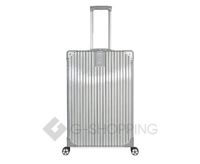 Пластиковый чемодан на колесиках серебристый DL068 5,3кг, фото 3
