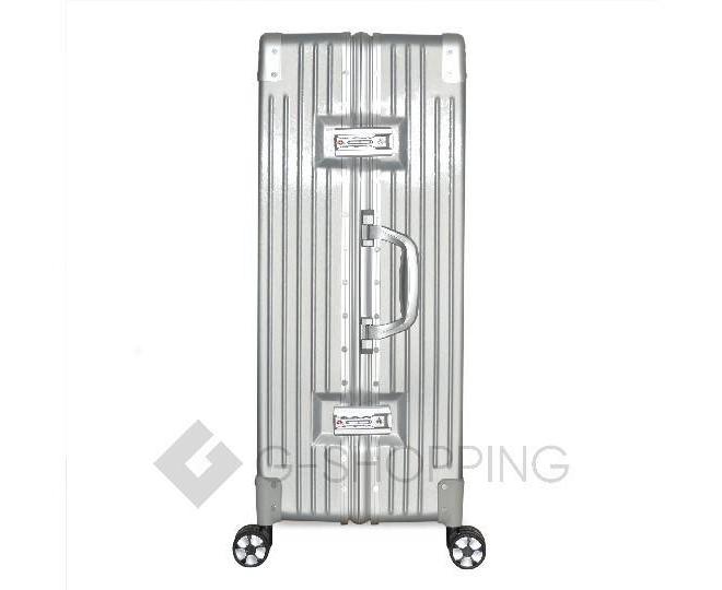Пластиковый чемодан на колесиках серебристый DL068 5,3кг, фото 4