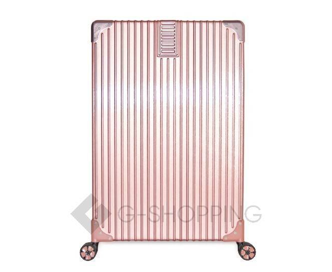 Пластиковый чемодан на колесиках розовый DL068 5,3кг, фото 2