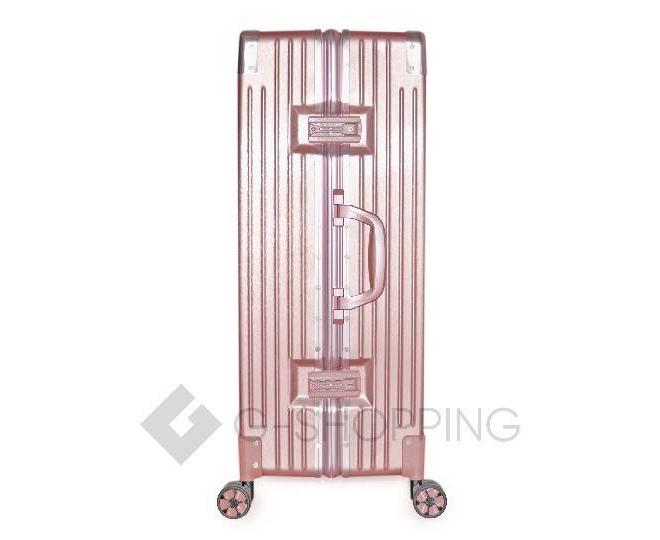 Пластиковый чемодан на колесиках розовый DL068 5,3кг, фото 3