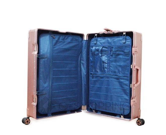 Пластиковый чемодан на колесиках розовый DL068 5,3кг, фото 7