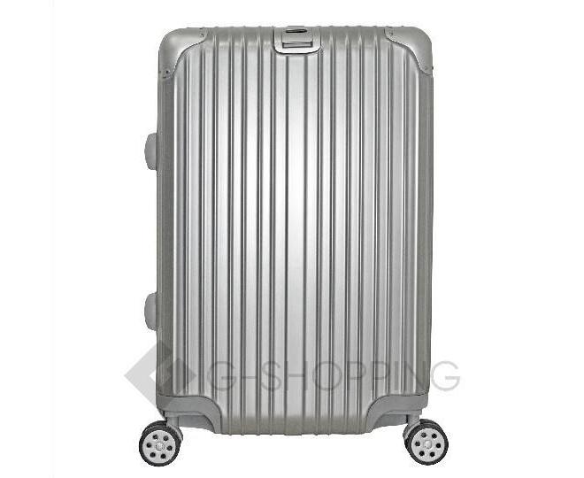 Пластиковый чемодан на колесиках серебристый  DL072 3,8кг, фото 4
