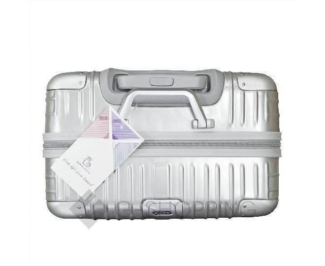 Пластиковый чемодан на колесиках серебристый  DL072 3,8кг, фото 9